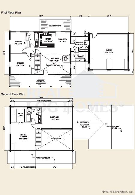 The auburn log home floor plans nh custom log homes for Real log homes floor plans