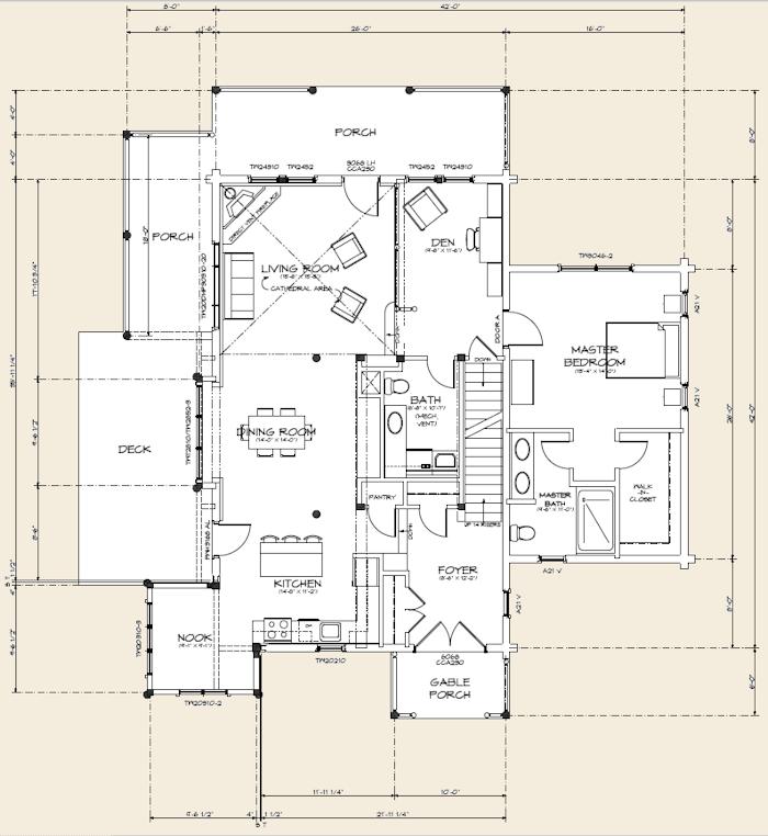 The brookfield log home floor plans nh custom log homes for Real log homes floor plans