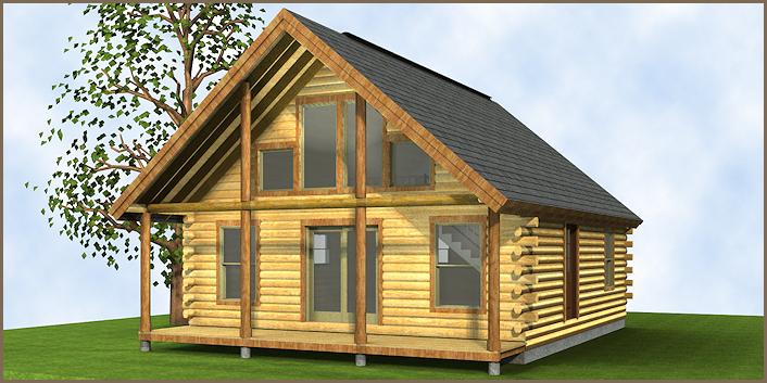 The Champlain Log Home Floor Plans Nh Custom Log Homes