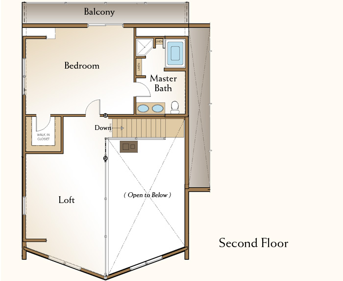 The Dawson, Log Home Floor Plans NH, Custom Log Homes
