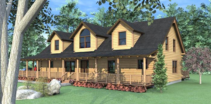 The Grand Isle Log Home Floor Plans Nh Custom Log Homes