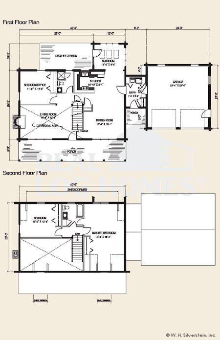 The hamilton log home floor plans nh custom log homes for Real log homes floor plans
