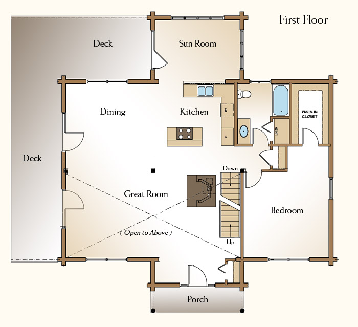 8 bedroom log cabin floor plans for 5 bedroom log home floor plans