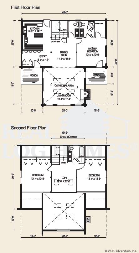 The ozark log home floor plans nh custom log homes for Real log homes floor plans