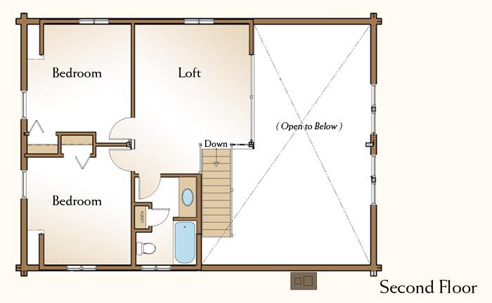 The piedmont log home floor plans nh custom log homes for Real log homes floor plans