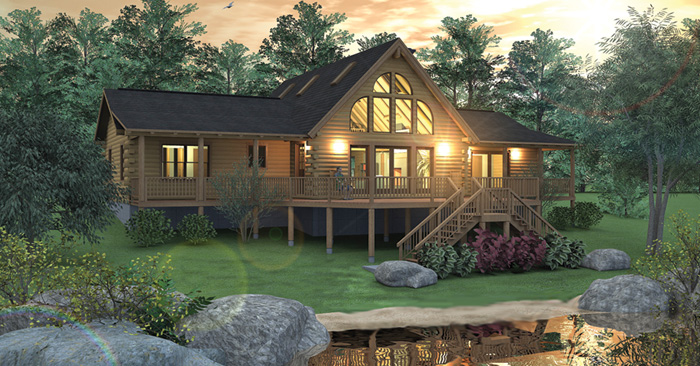 The Richmond Log Home Floor Plans Nh Custom Log Homes