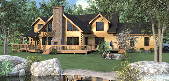 The Stonington Log Home Floor Plans Nh Custom Log Homes