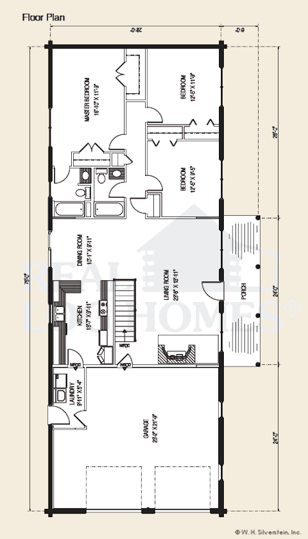 The Teton Log Home Floor Plans Nh Custom Log Homes