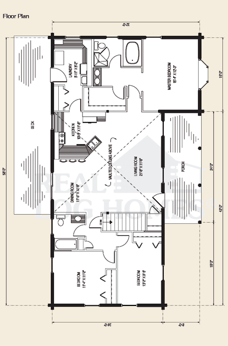The townsend log home floor plans nh custom log homes for 3 bedroom log cabin house plans