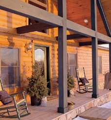Log Home Porch Rafters Nh Log Home Builder Nh Custom Log