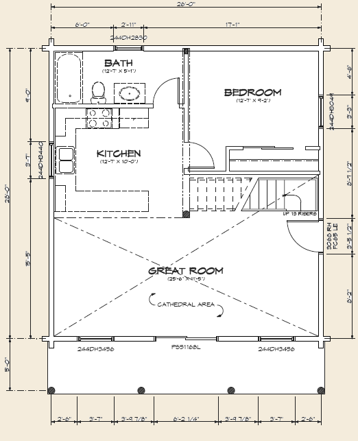 The Champlain, Log Home Floor Plans NH, Custom Log Homes | Gooch ...