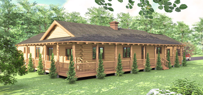 The Cheyenne Log Home Floor Plans Nh Custom Log Homes