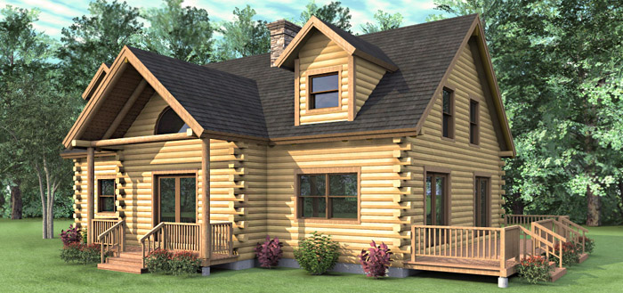 The claremont log home floor plans nh custom log homes for 4 bedroom log cabin kits