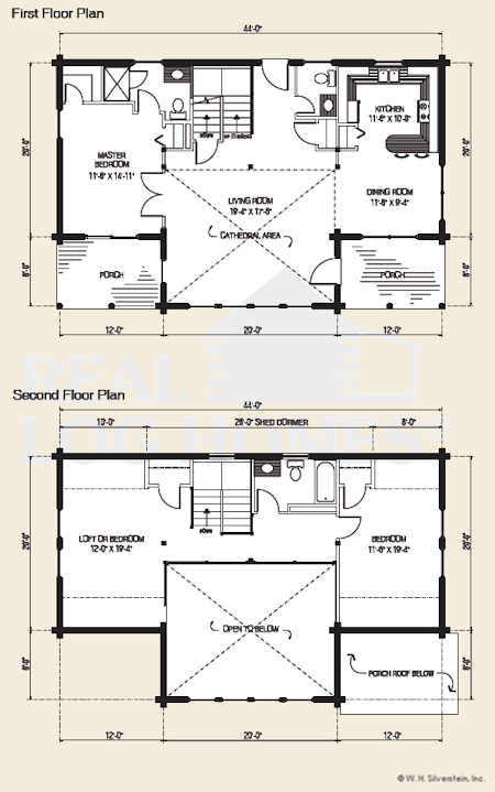 The Crystal Lake, Log Home Floor Plans NH, Custom Log Homes | Gooch ...
