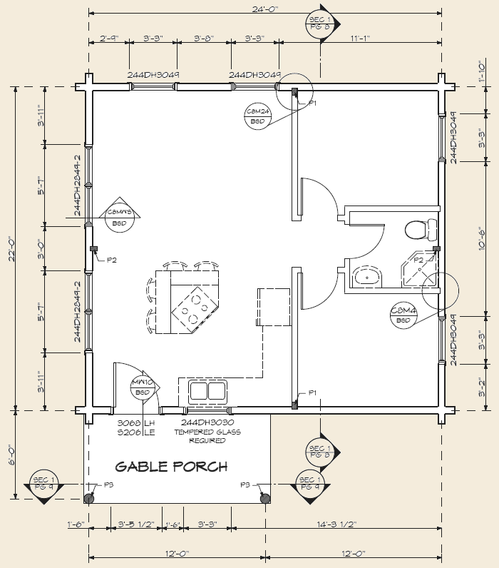 The Expedition, Log Home Floor Plans NH, Custom Log Homes | Gooch ...