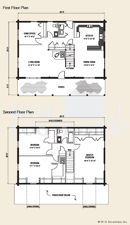 the newport, log home floor plans nh, custom log homes | gooch real