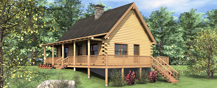 The Rockville Log Home Floor Plans NH Custom Log Homes Gooch