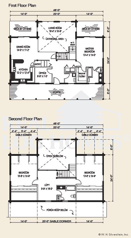 The sheridan log home floor plans nh custom log homes for Real log homes floor plans