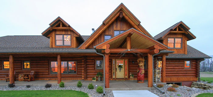 The starview log home floor plans nh custom log homes for House plans with real pictures