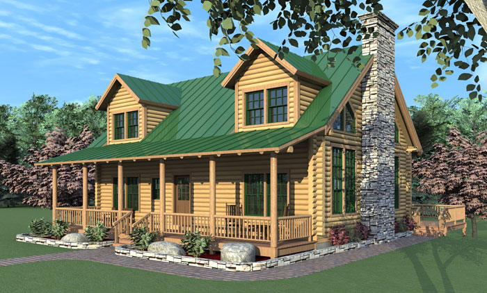 The west hollow log home floor plans nh custom log homes for Unique log home floor plans