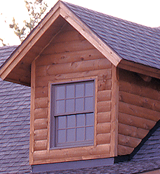 Corner Board Log Home Window Dormer