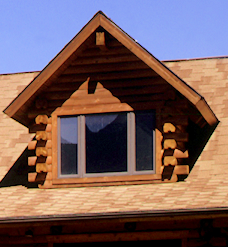 False Log Corners Dormer