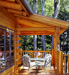 Full Log Porch Rafter